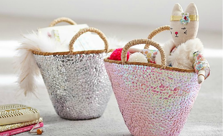 Jenni Kayne Sequin Baskets from Pottery Barn Kids