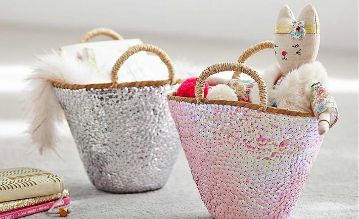 Jenni Kayne Sequin Baskets from Pottery Barn Kids