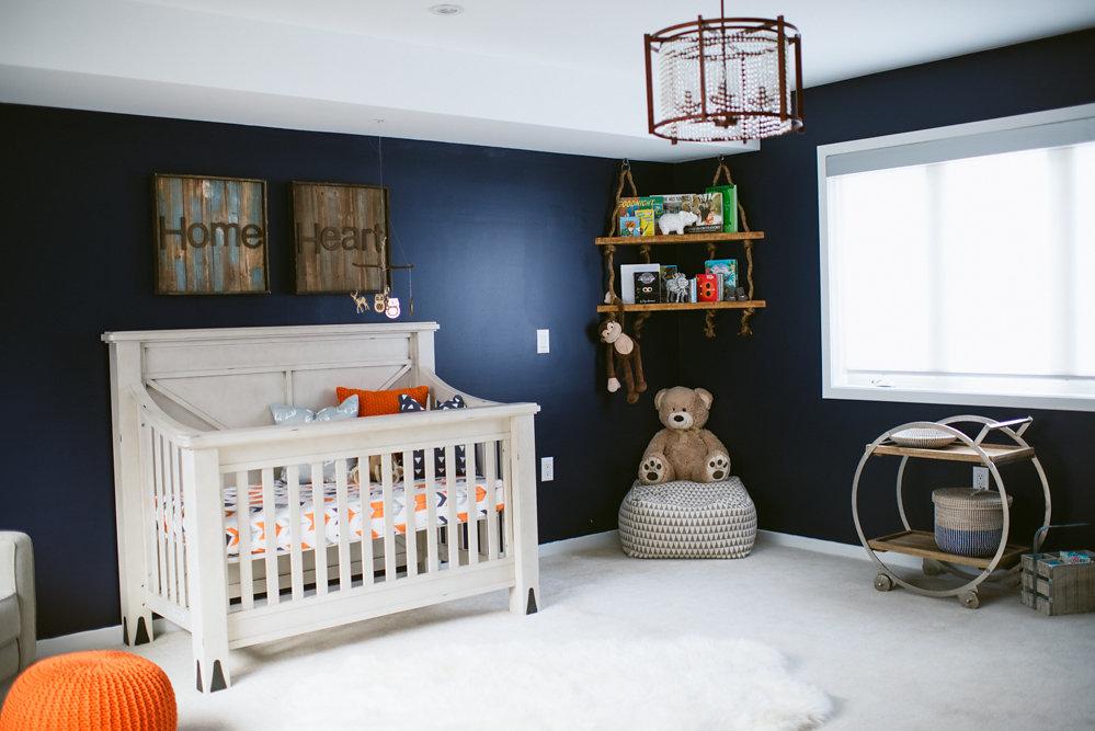 Rustic Meets Modern Nursery