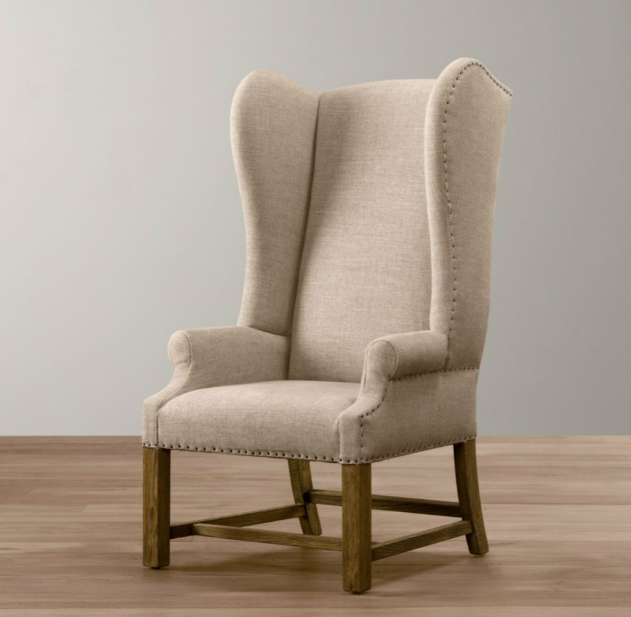 Mini French Wing Chair from RH Baby & Child