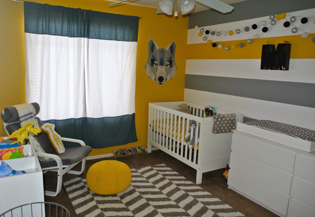 Yellow and Gray Modern Safari Nursery