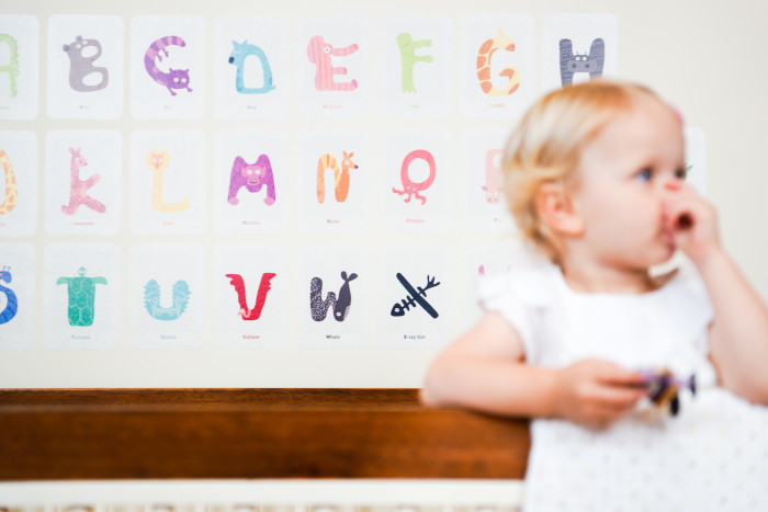 Animal Alphabet Wall Decals from Pop & Lolli