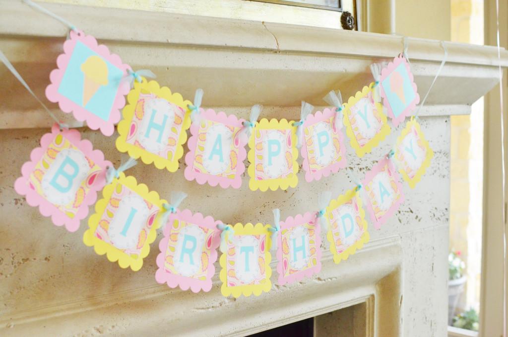 Pastel Birthday Banner