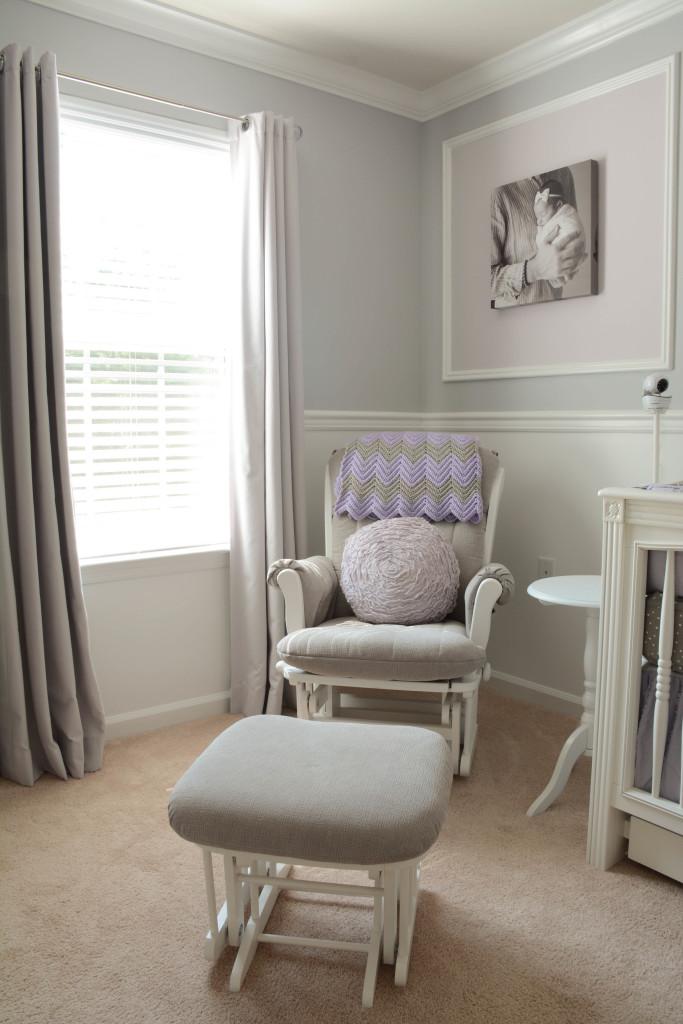 Lavender And Grey Nursery Project Nursery