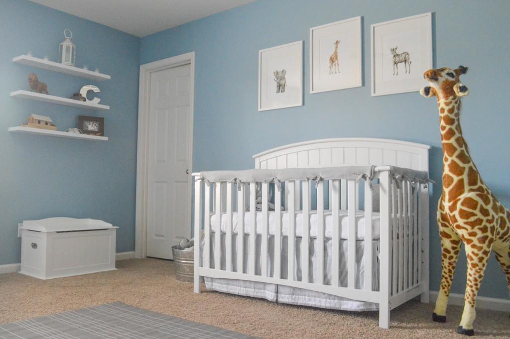 Classic Gray And Blue Safari Nursery Project Nursery
