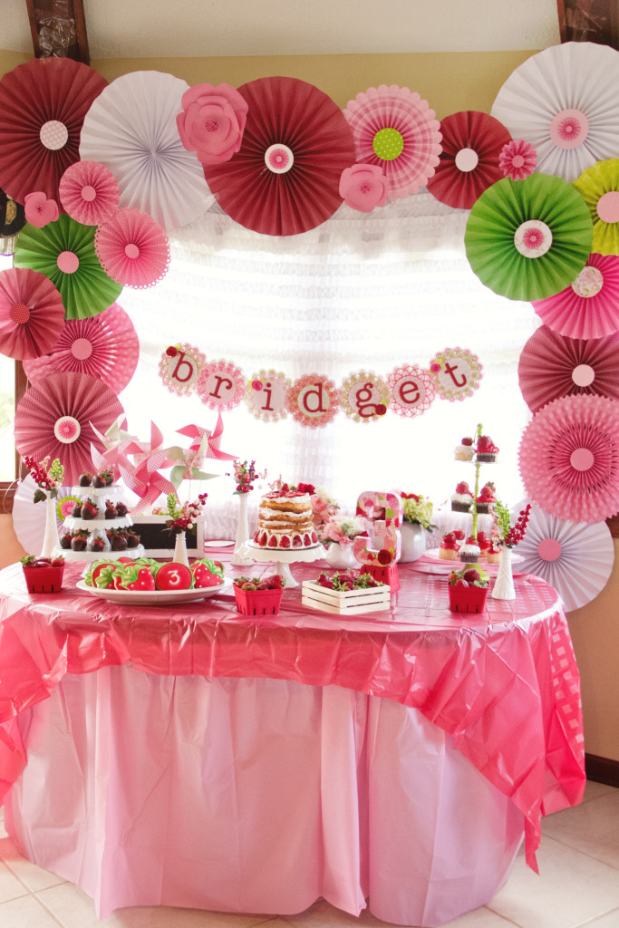 Strawberry Shortcake Inspired Birthday Party