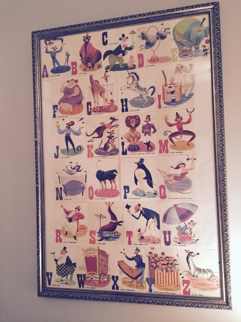 Circus Alphabet Print