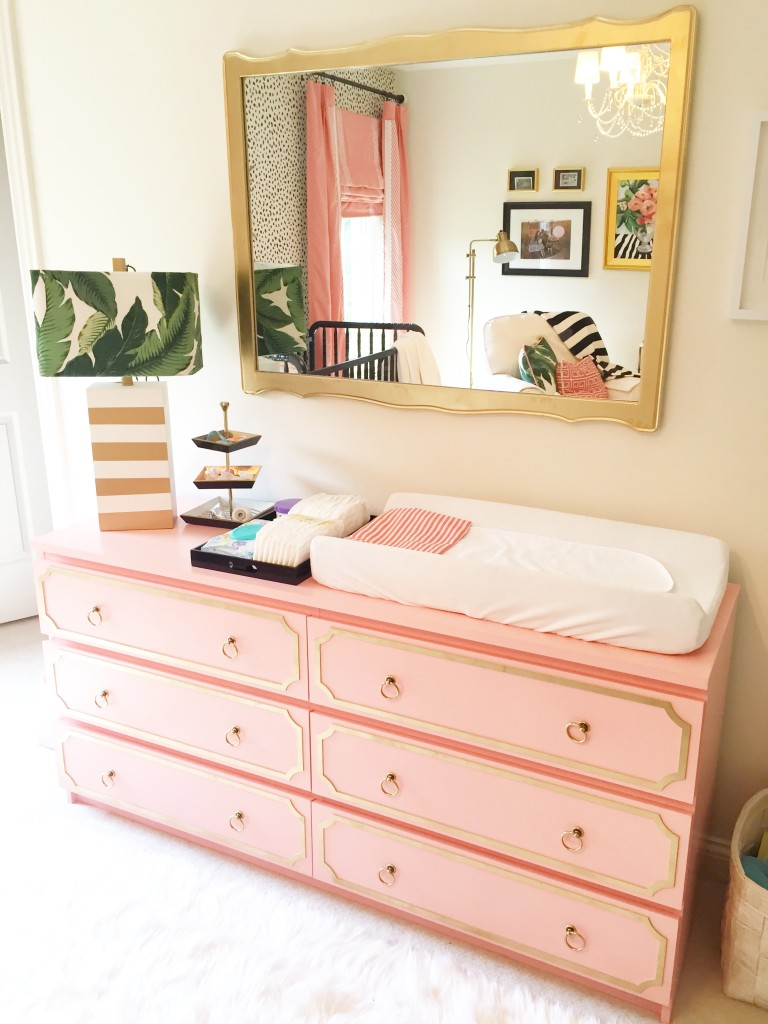 IKEA Malm painted with Glidden Light Coral Sunset