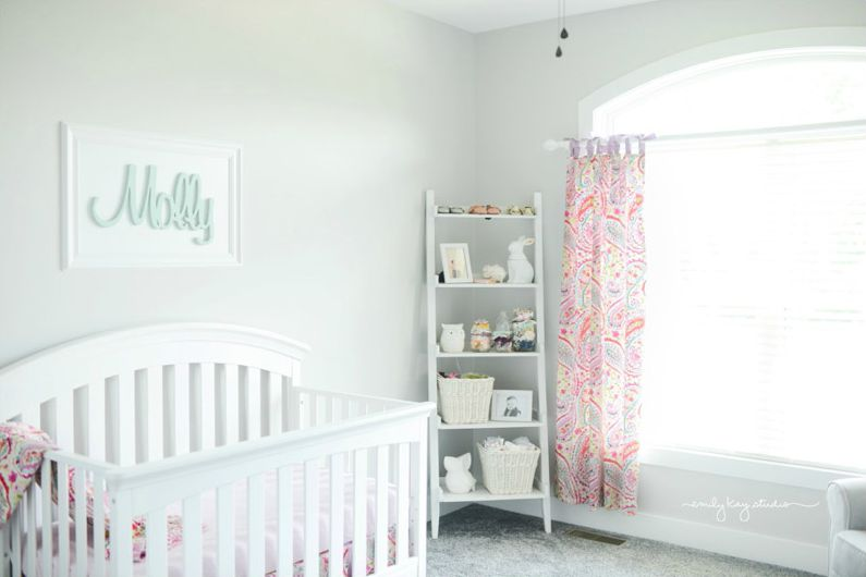 White Girl's Nursery with Paisley Accents - Project Nursery