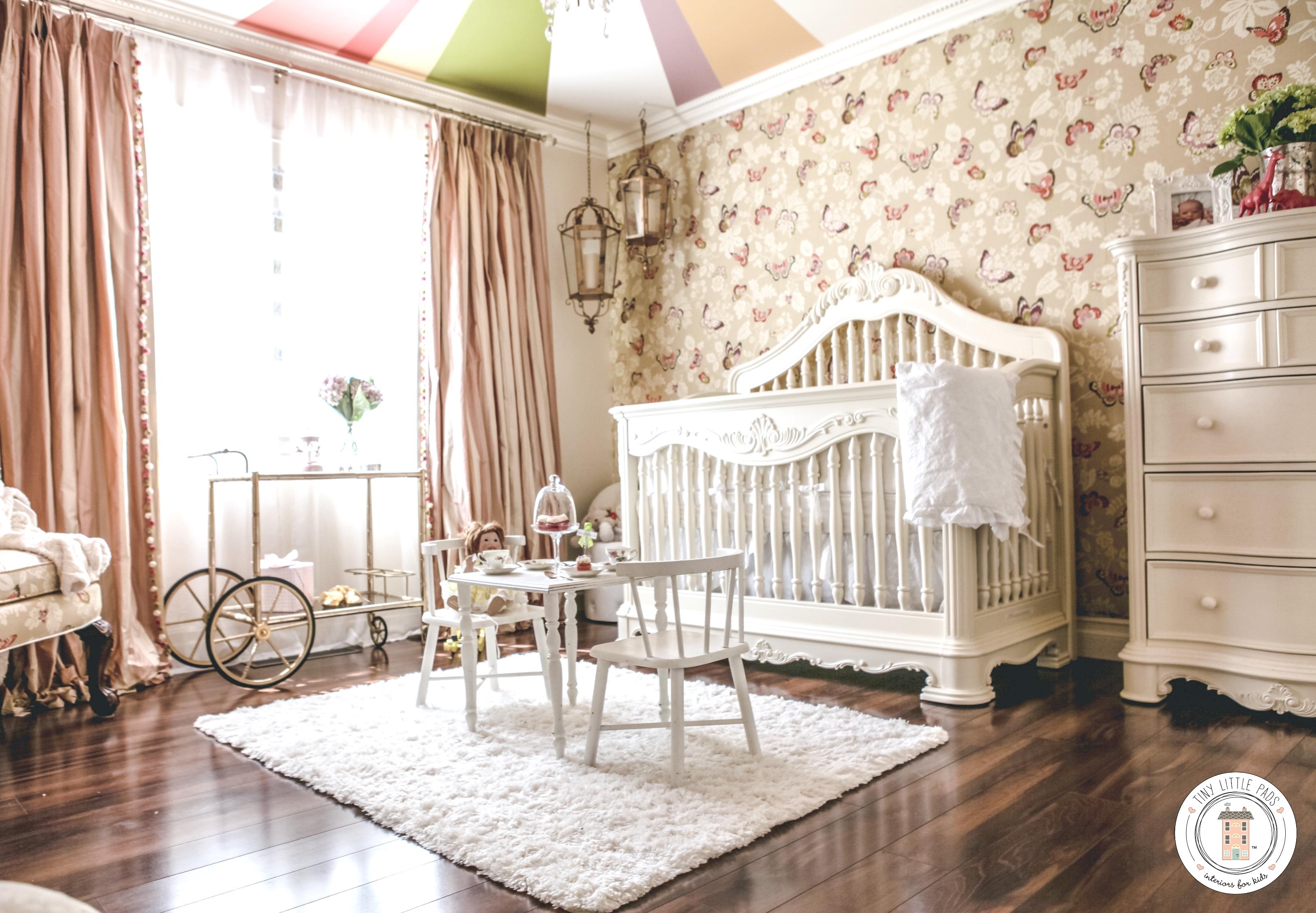 Modern Rococo Baby Girl Nursery