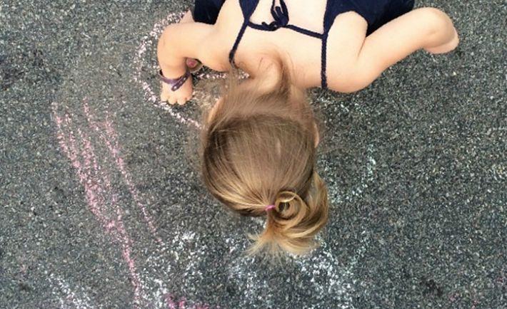 Toddler Chalk Art