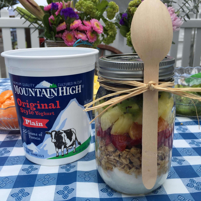 Rainbow Fruit Yoghurt Parfait