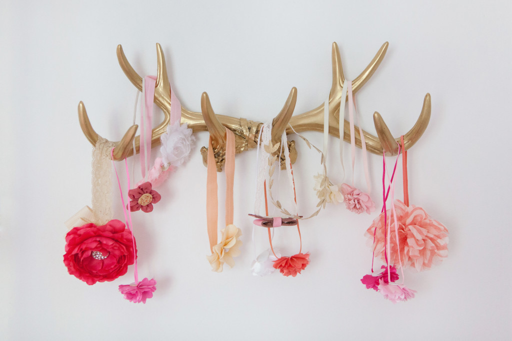Antler Hair Accessory Storage - Project Nursery