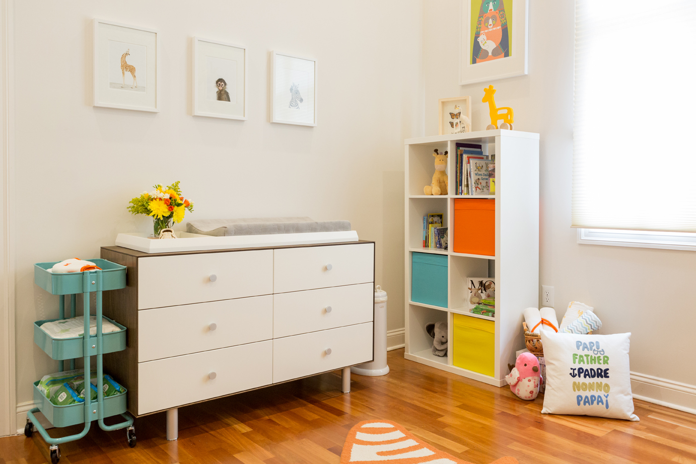 Gender Neutral Nursery with Pops of Color