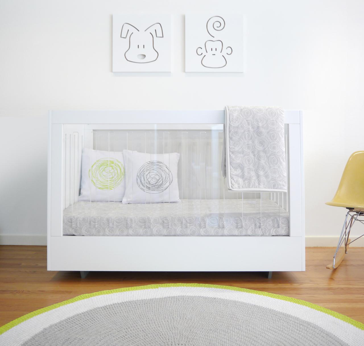 acrylic nursery decor  project nursery - roh crib from spot on square