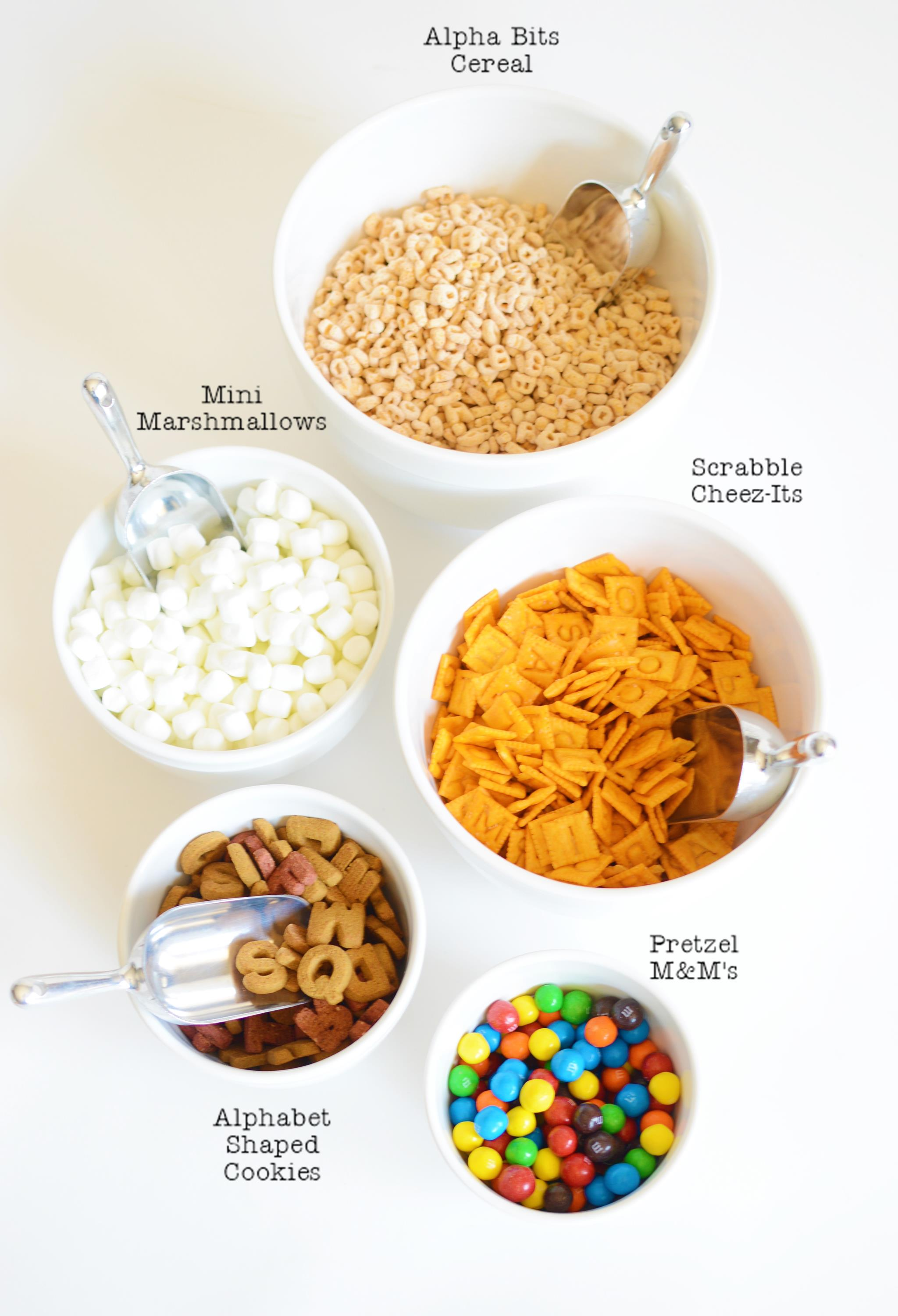 Back-to-School Snack Mix Ingredients