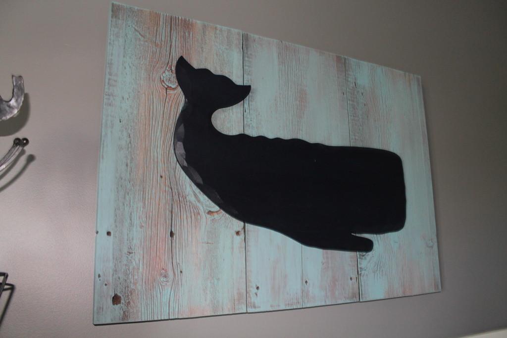 Diy whale barnwood