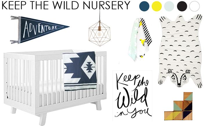 Wild Nursery Design Board - Project Nursery
