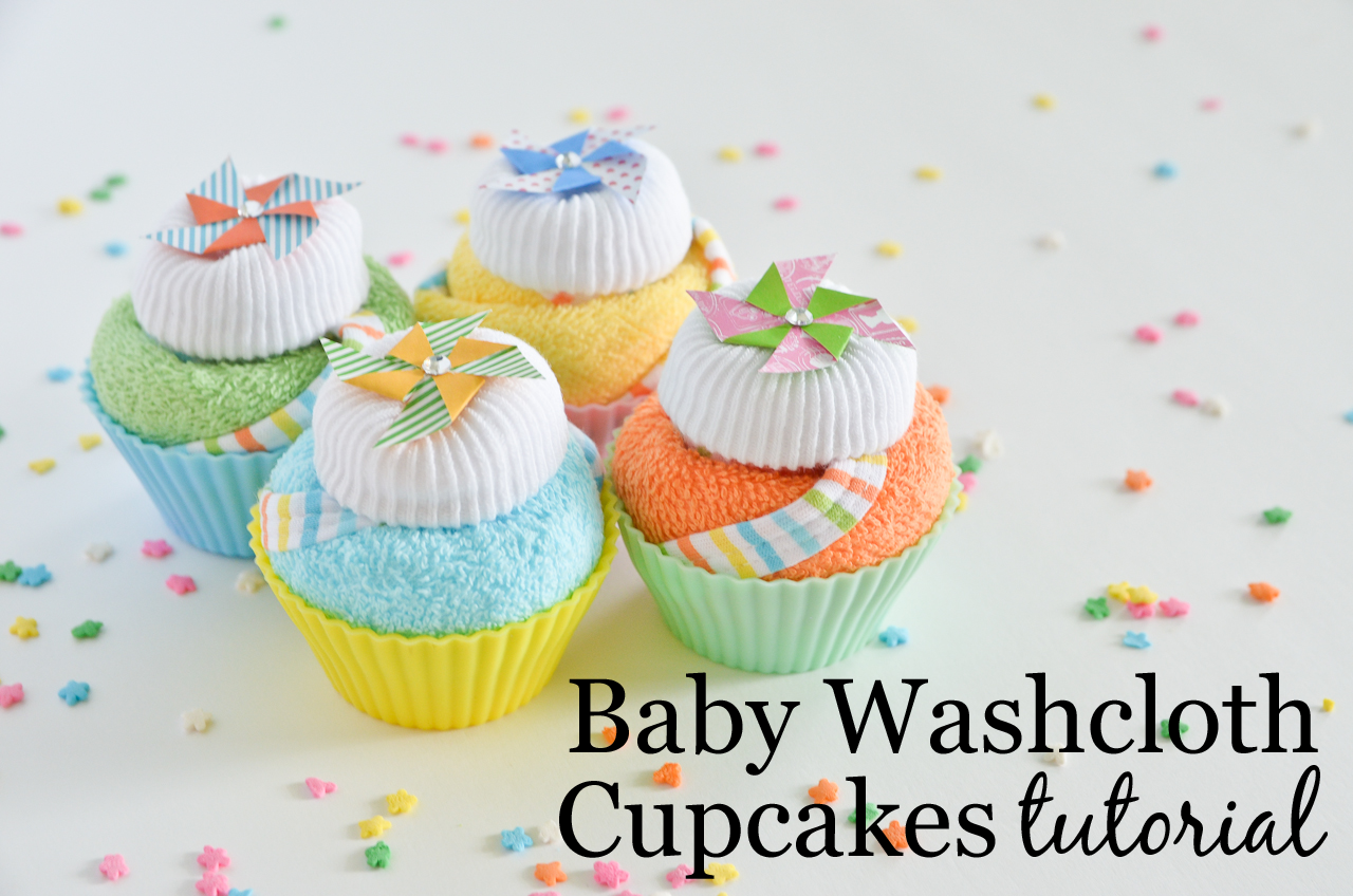 Baby Washcloth Cupcakes Tutorial - Project Nursery