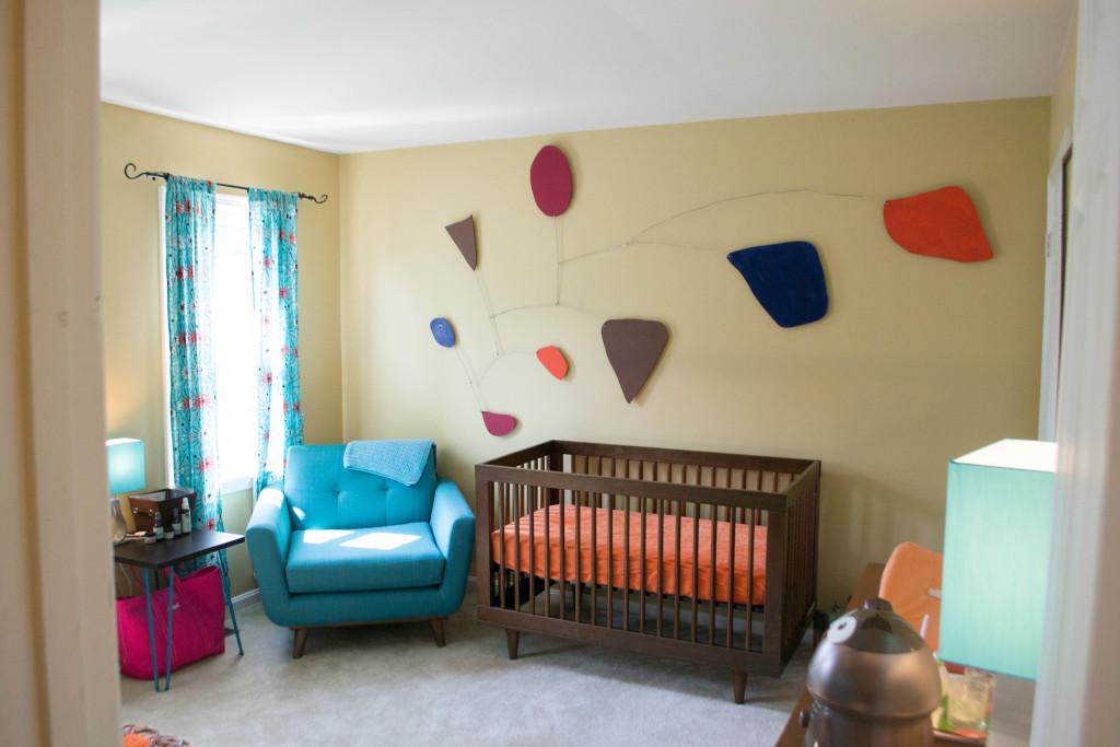 Mid Century Modern Nursery Budget Friendly Project Nursery