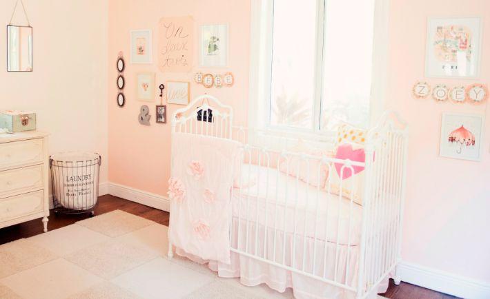 Pink and White Vintage Parisian Nursery - Project Nursery