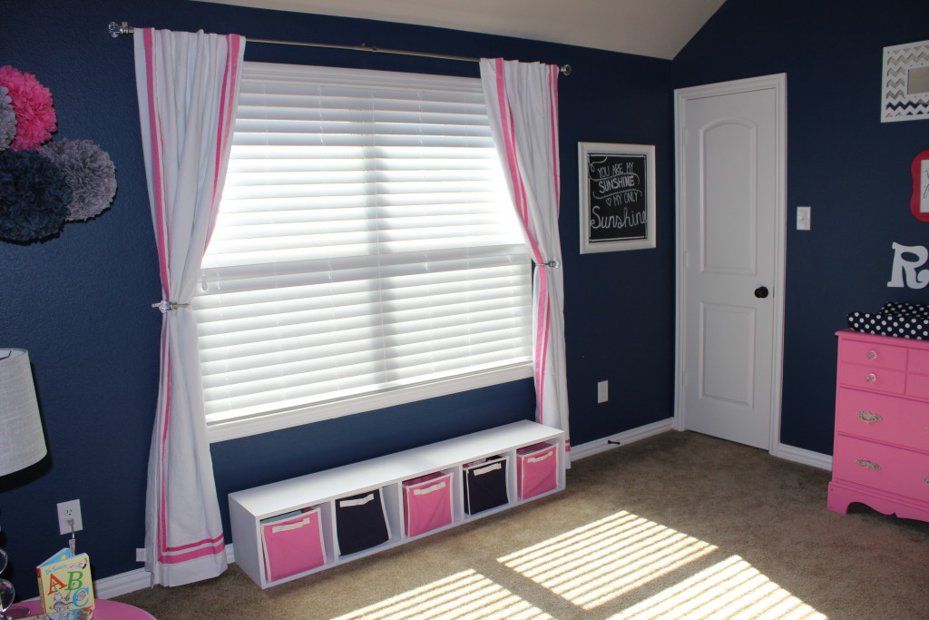 Pink Grey And Navy Nursery Project