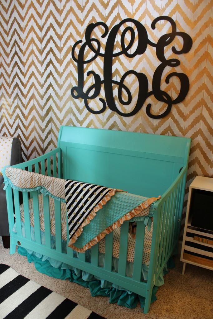Teal Crib