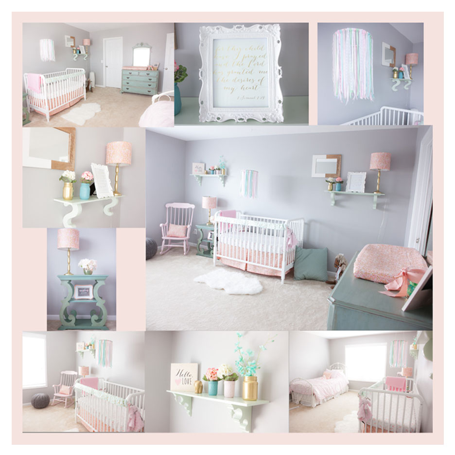 Pink, Mint and Gray Baby Girl Nursery - Project Nursery