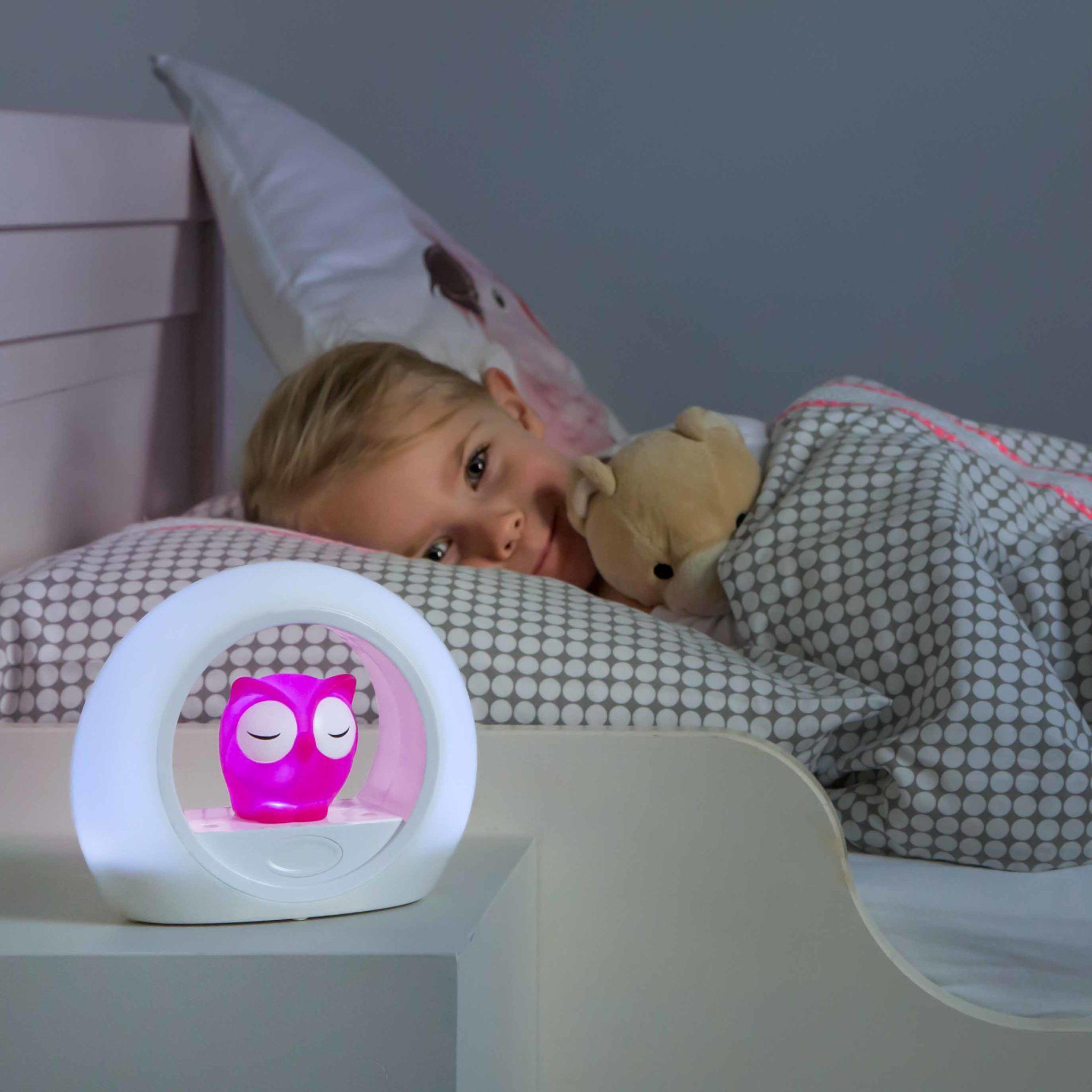 LOU Owl Nightlight Pink