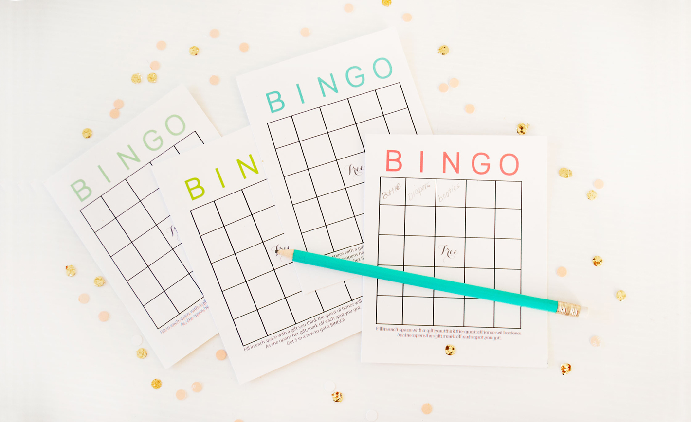 Free printable baby shower bingo cards project nursery negle Image collections