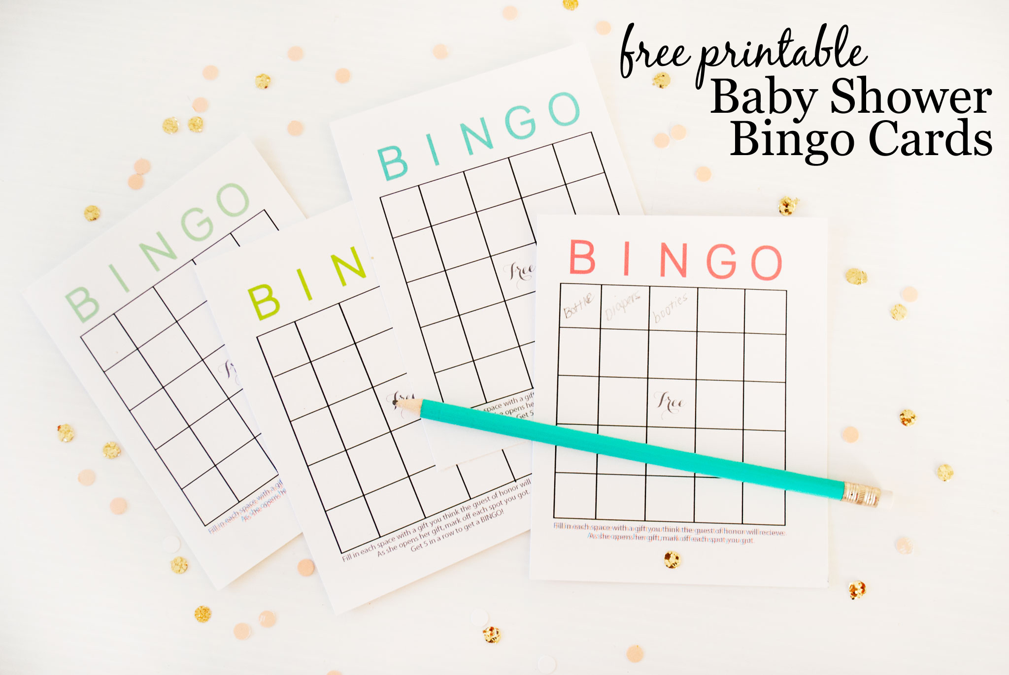 photograph regarding Printable Baby Shower Bingo titled Absolutely free Printable Kid Shower Bingo Playing cards - Job Nursery