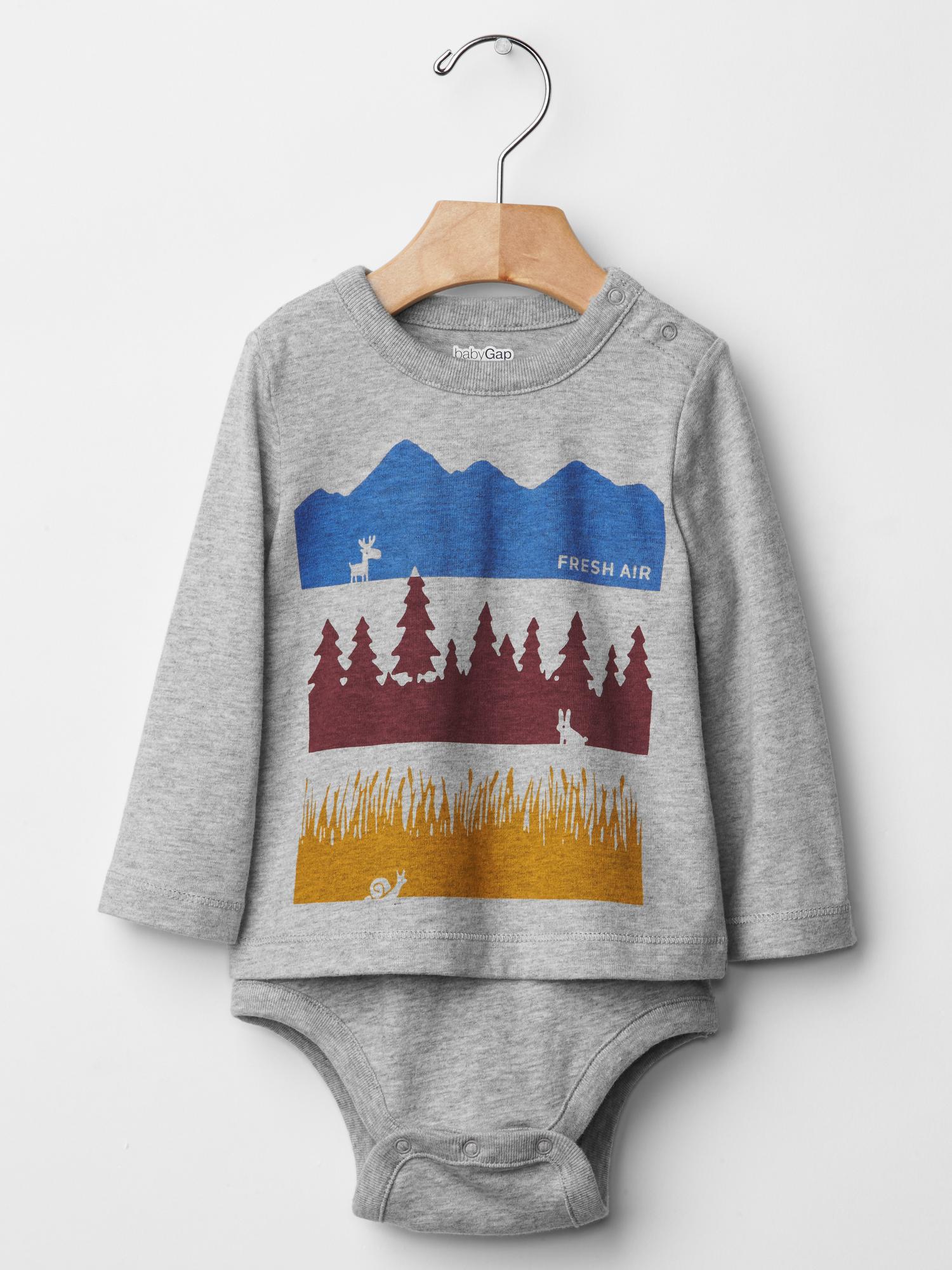 Fresh Air Graphic Bodysuit from Baby Gap