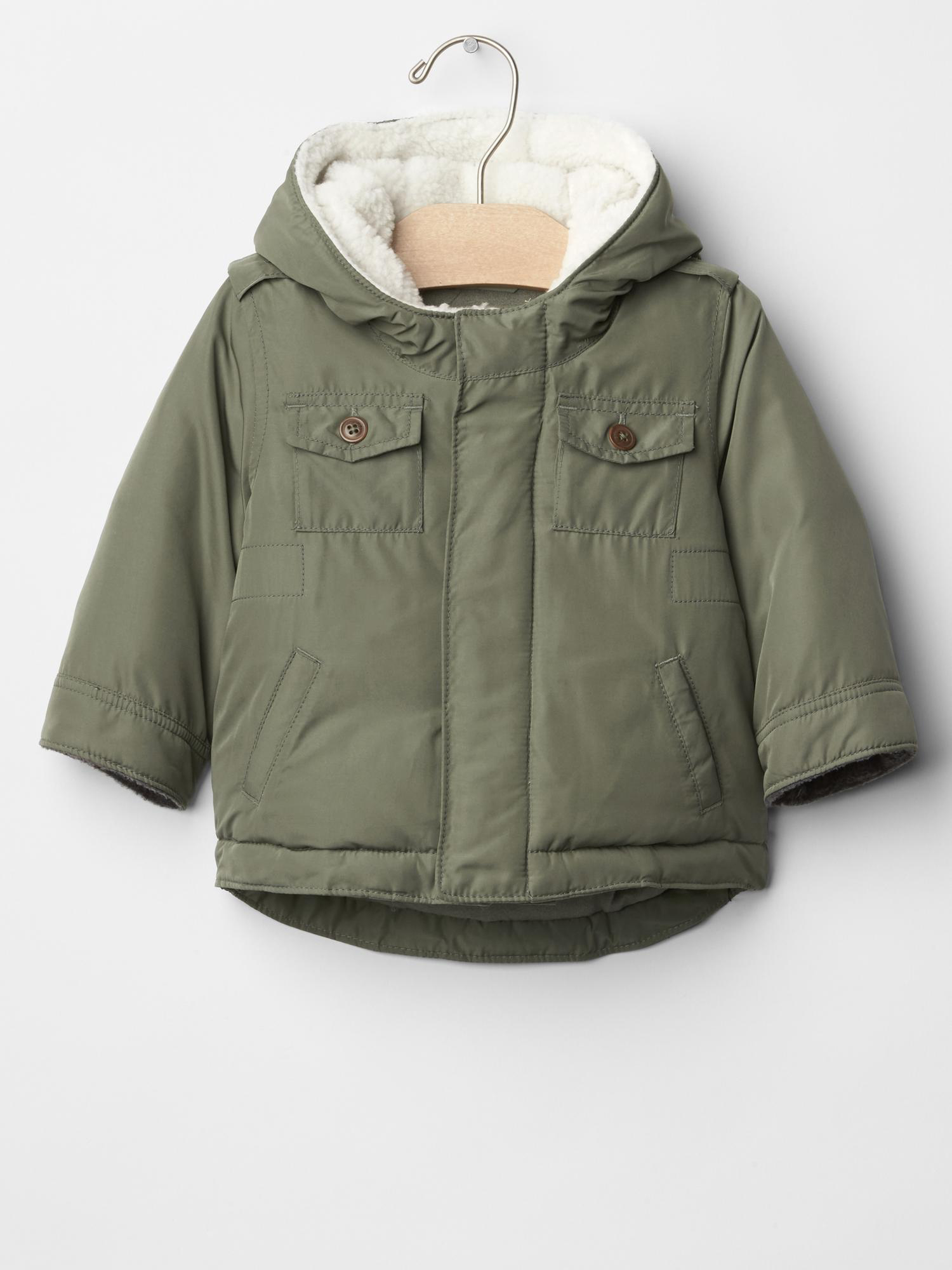 Sherpa Puffer Parka from Baby Gap