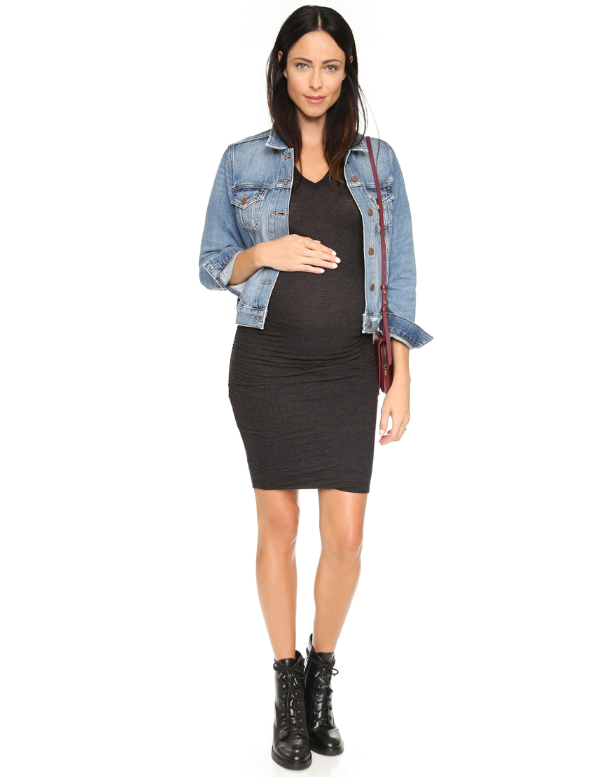 Maternity Shirred Tee Dress from Shopbop