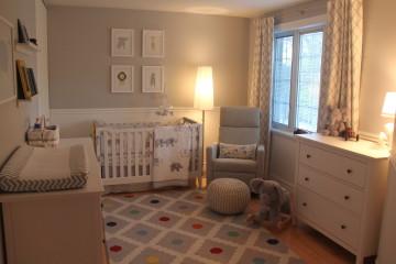 Neutral and Peaceful Baby Boy Nursery