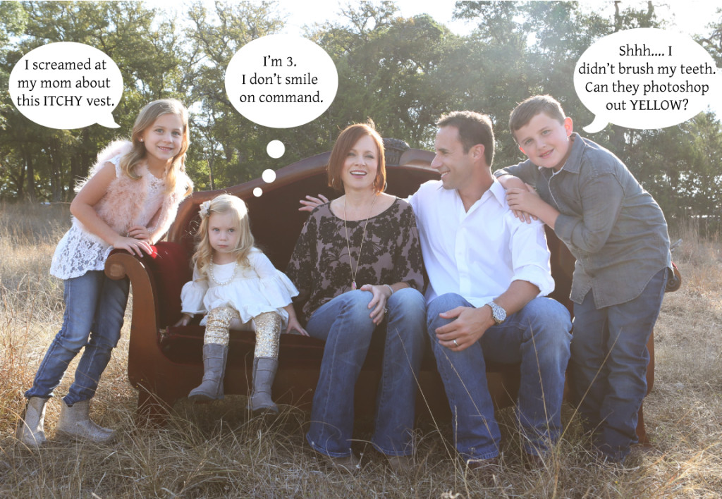 Family Holiday Photo Shoot Outtake