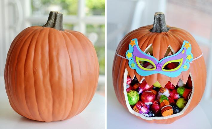 DIY Jack-O-Lantern Candy Holder