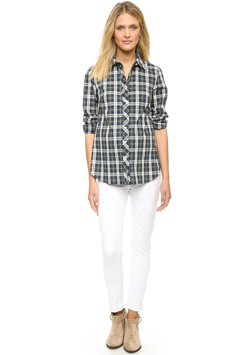 Classic Plaid Maternity Shirt from Shopbop