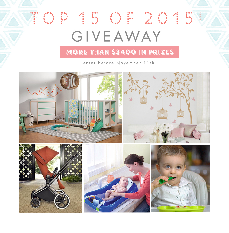 Top 15 of 2015 Giveaway - Project Nursery
