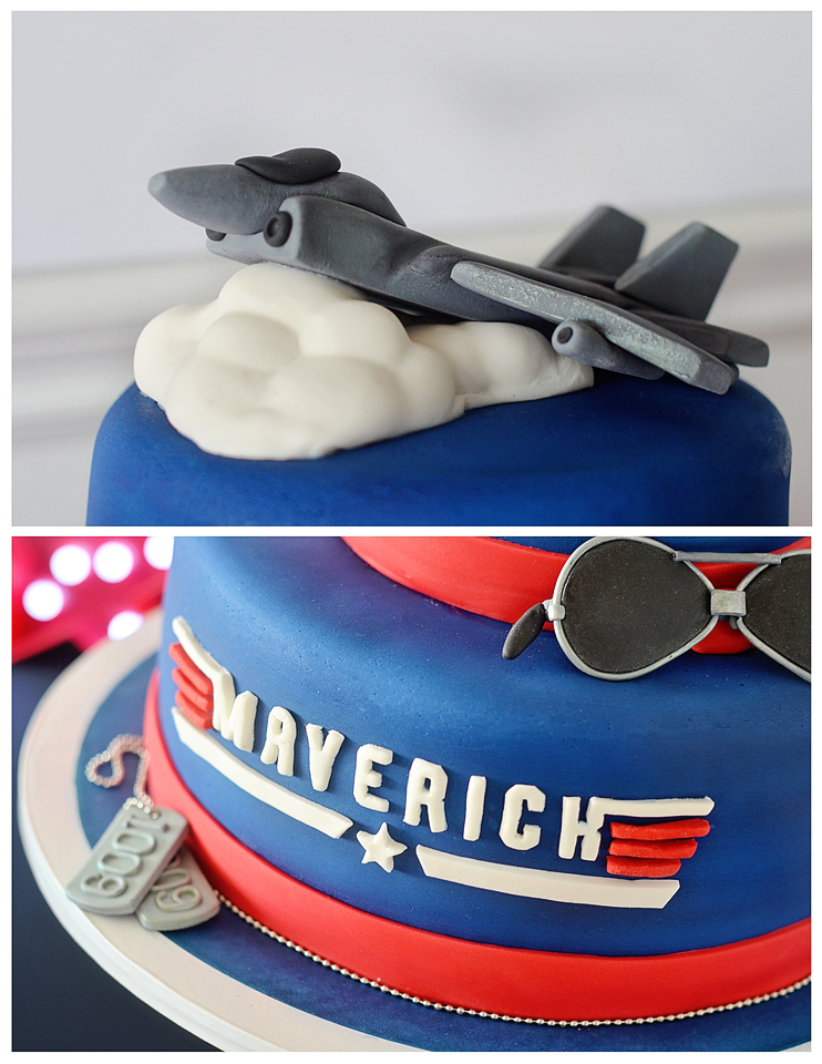 """Top Gun"" Birthday Party Cake"