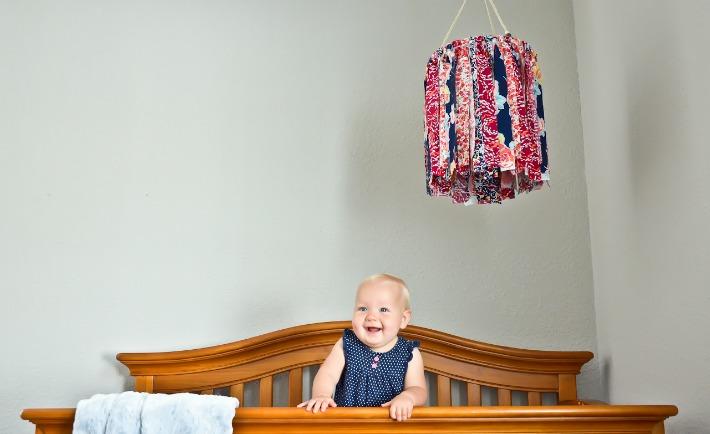 DIY Scrap Fabric Baby Mobile