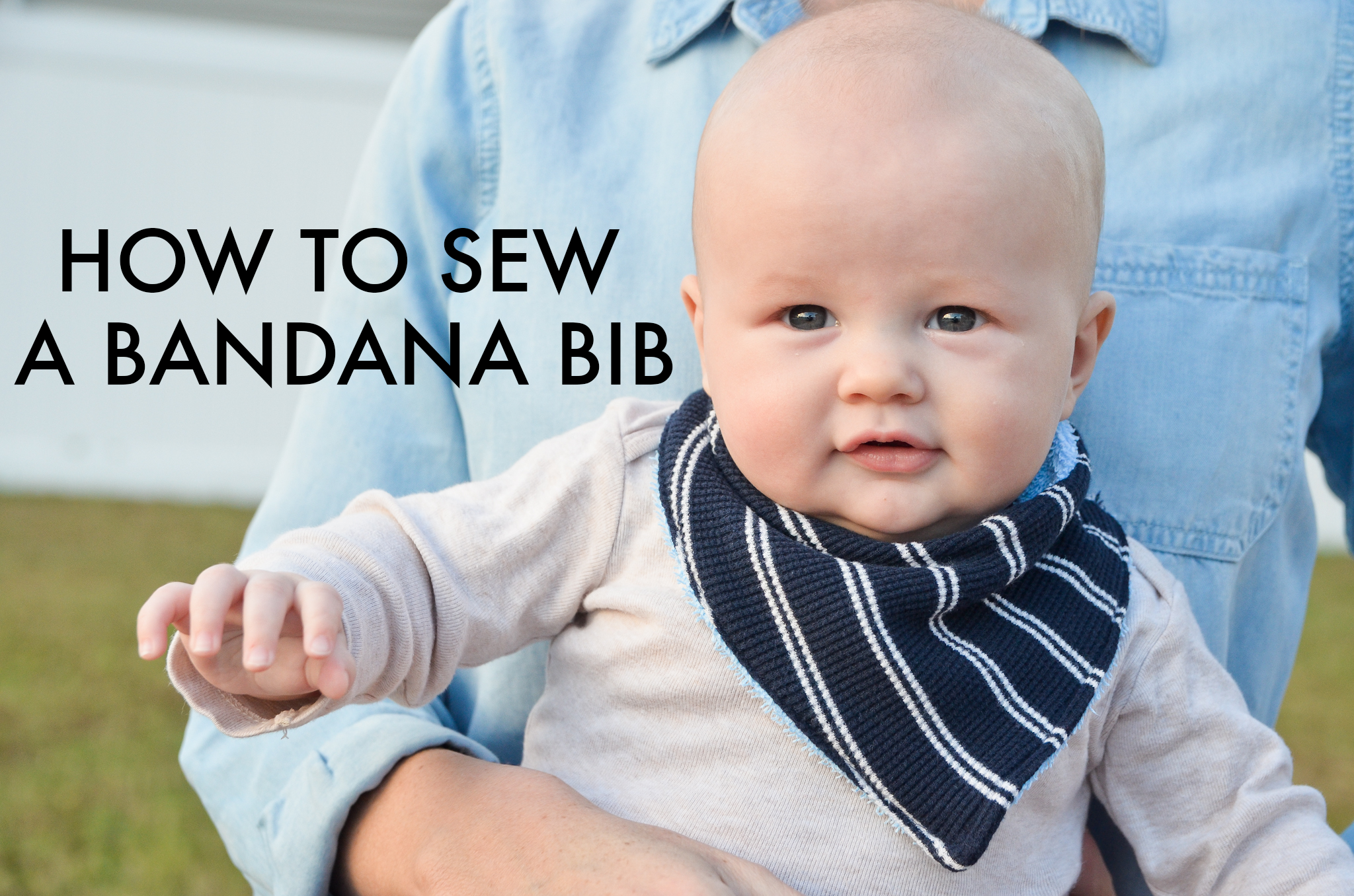 939bcc3f4 DIY   How to Sew a Bandana Bib - Project Nursery