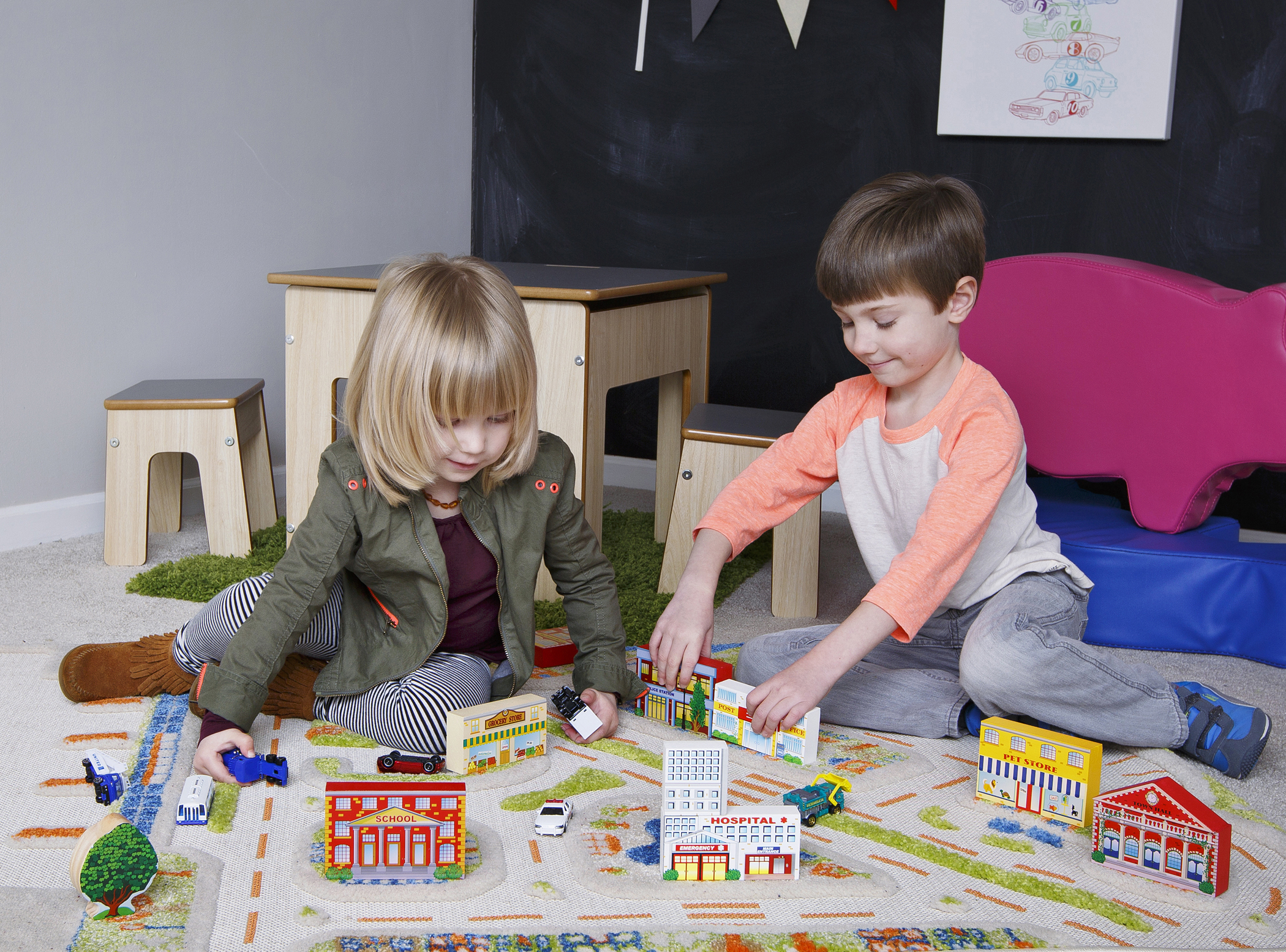 3D Play Rug and FunPit Table from Luca & Company