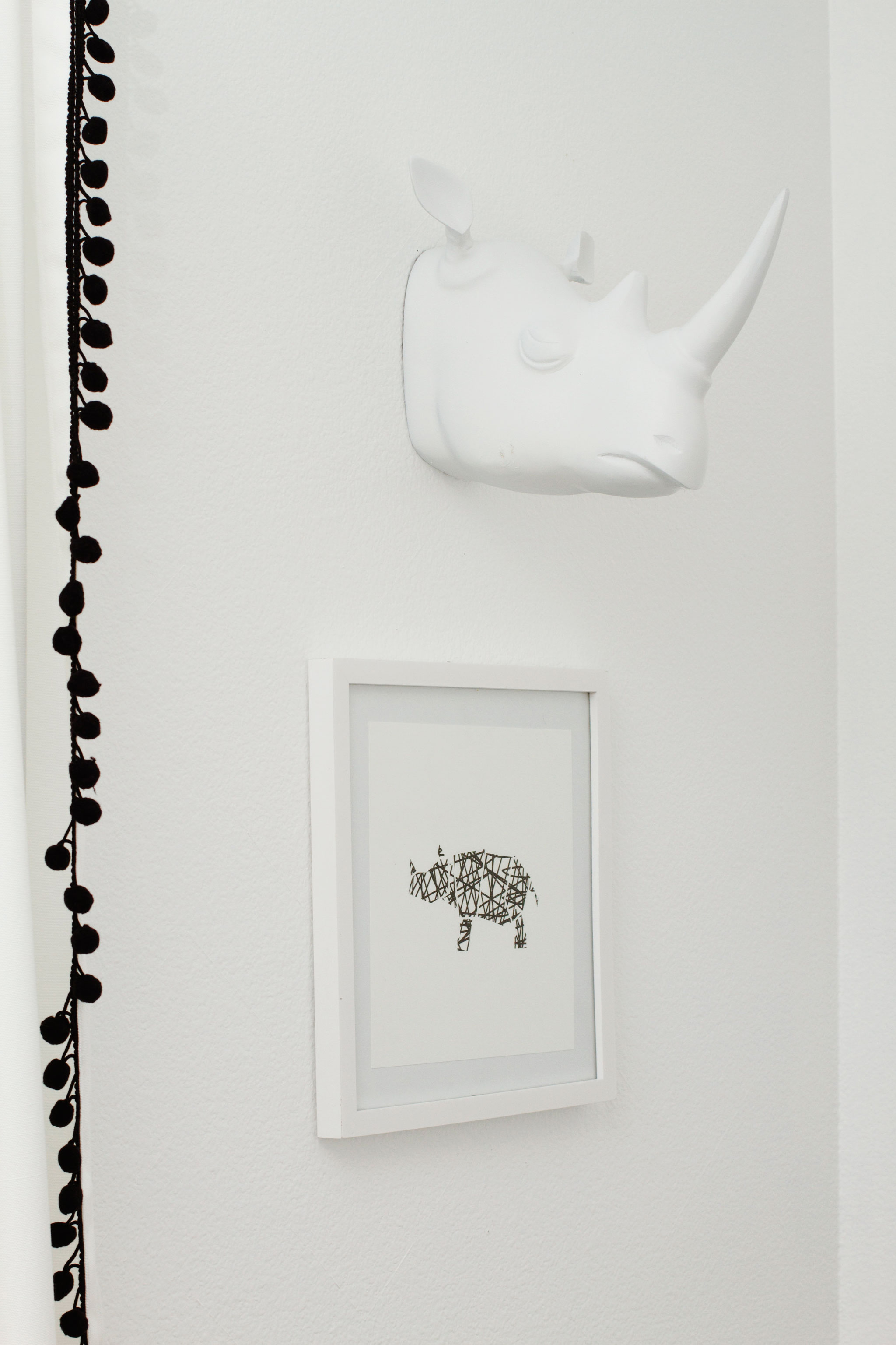 Rhino Faux Taxidermy and Nursery Art
