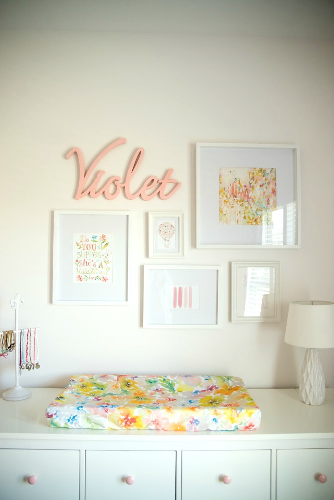 Whimsical Pink and White Girls Nursery - Project Nursery