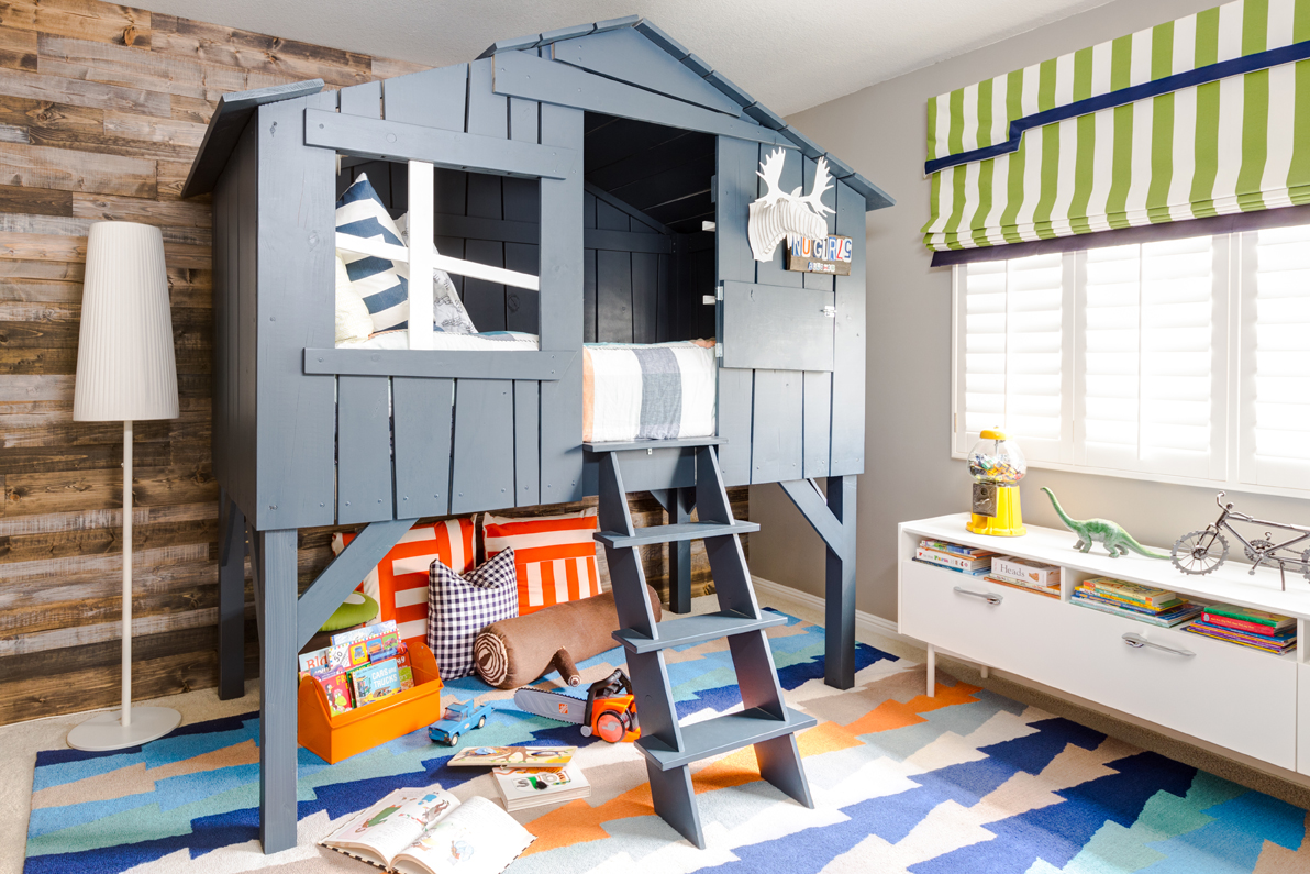 Custom Lofted Toddler Bed