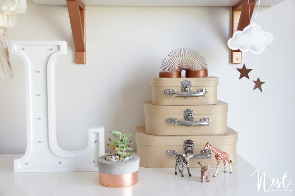 Rose Gold Nursery Accents