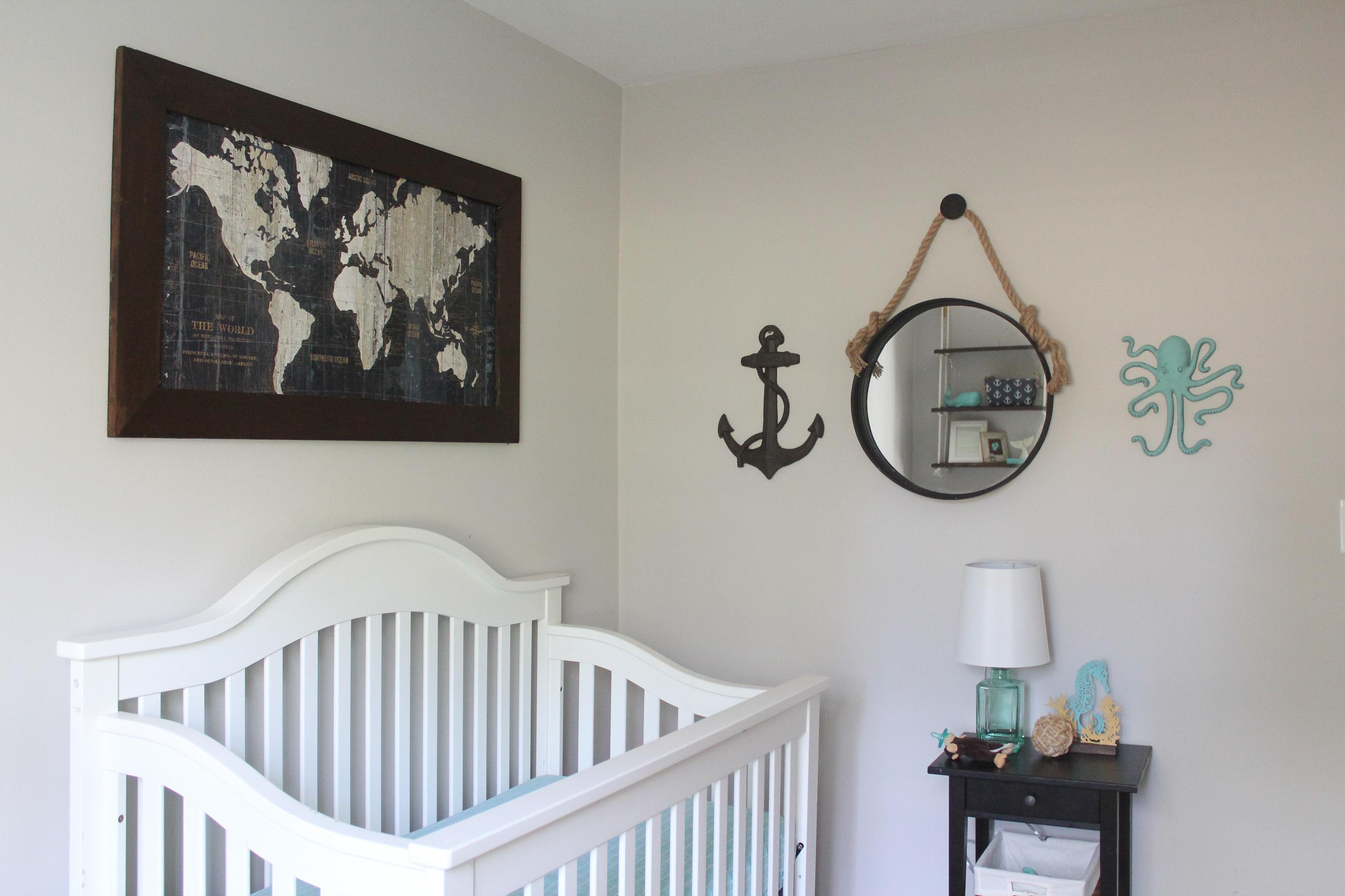 Sophisticated Modern Nautical Nursery: Owen's Nautical Nursery