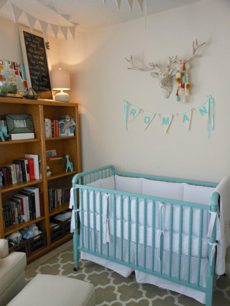 Roman S Eclectic Turquoise Nursery Project Nursery