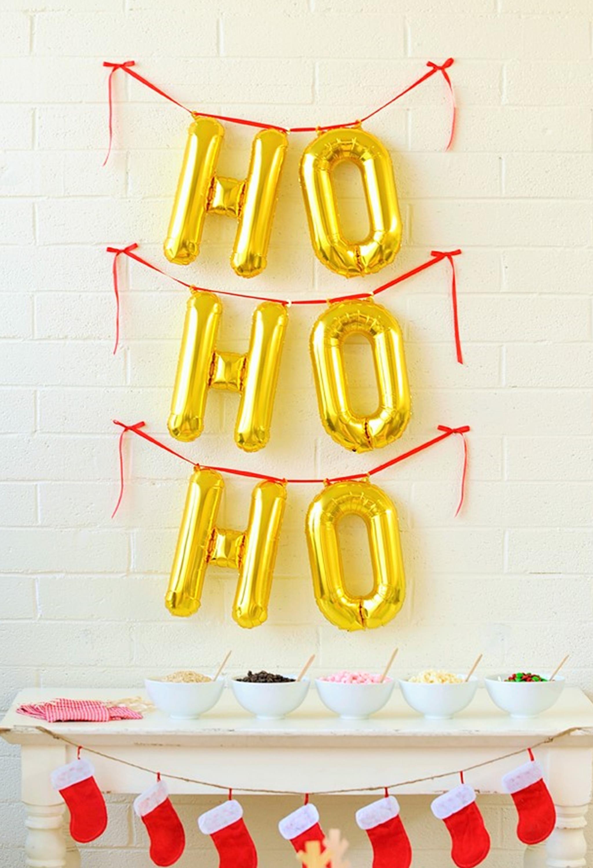 Ho Ho Ho Gold Foil Balloons